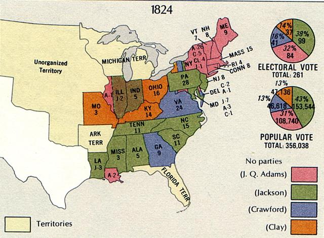 US History Question Of The Day Answer Explanation - Us map 1824