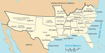 US History Question Of The Day - The confederate map of the us