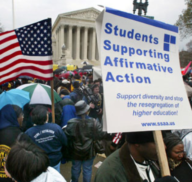 affirmative action supporters and opponents